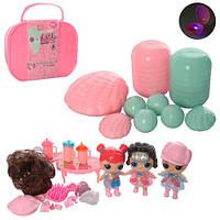 Подарочный набор Куклалол (lol) Л.О.Л (L.O.L surprise) в чемодане LOL, аксессуары