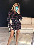 Женское стильное платье-пиджак в клетку (в расцветках), фото 3