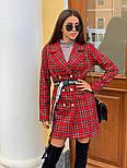 Женское стильное платье-пиджак в клетку (в расцветках), фото 5
