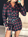 Женское стильное платье-пиджак в клетку (в расцветках), фото 7
