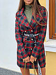 Женское стильное платье-пиджак в клетку (в расцветках), фото 8
