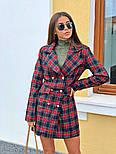 Женское стильное платье-пиджак в клетку (в расцветках), фото 6
