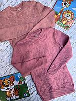 Детский вязанный свитер для девочек от 8 до 12 лет., фото 1