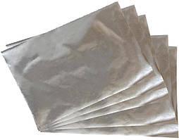 Плівка металлизированая для упаковки квітів і подарунків в листах 700 х 700 мм , товщина 30мкм, 50 штук