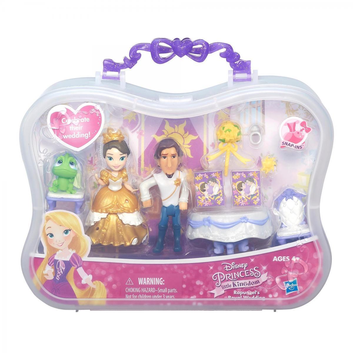 Игровой набор  Hasbro Disney Princess 7.5 см-маленькая кукла Принцесса и сцена из фильма Рапунцель B5343