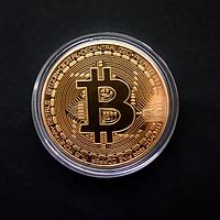 Монета Биткоин Bitcoin сувенирная