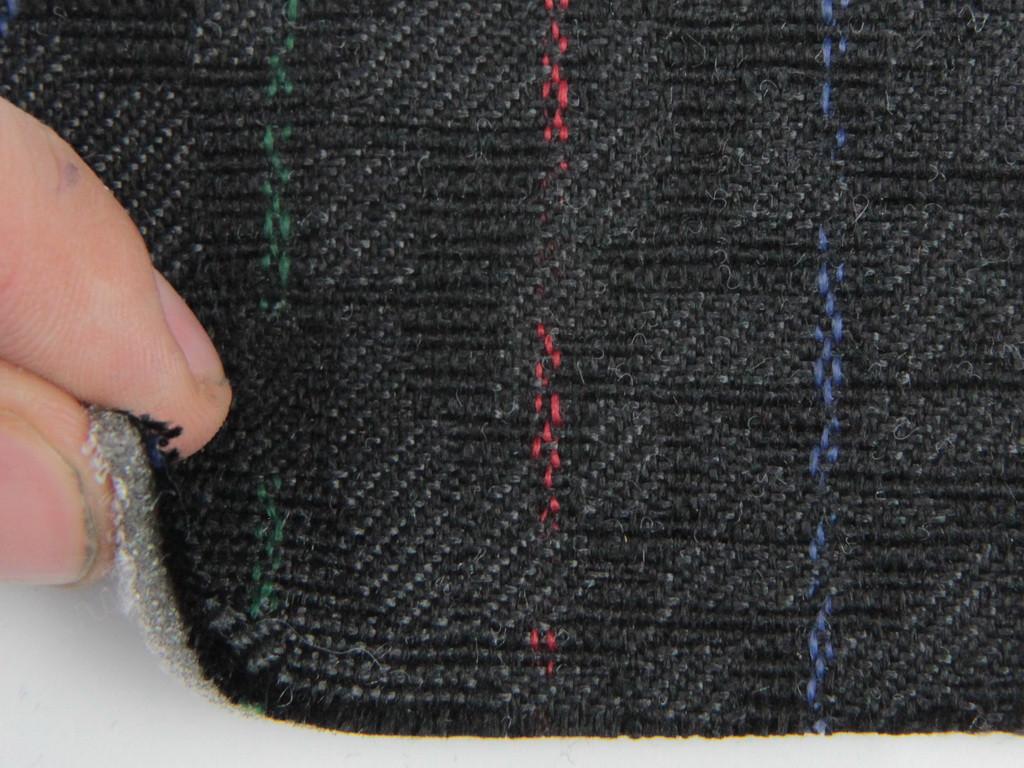 Ткань для сидений автомобиля, цвет черный с цветными полосками, на поролоне (для центральной части), Германия
