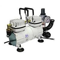 Миникомпрессор низкого давления с регулятором,фильтром и шлангом 1/6HP