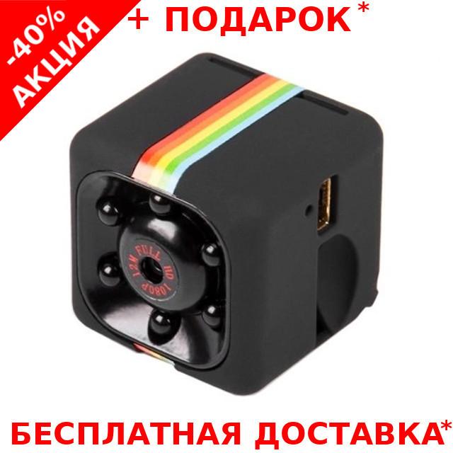 Мини экшн камера SQ11 1920*1080P Full HD с инфракрасной LED подсветкой черная