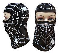 Детская термоактивная балаклава SportZone Spider Man Black. Детская термобалаклава, подшлемник, фото 1