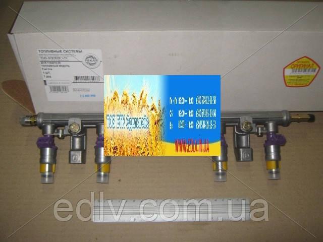 Топливопровод ГАЗ двигатель 4216 ЕВРО-3 рампа, с форсунками (пр-во ПЕКАР) 4216.1104010-06