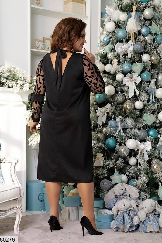Черное нарядное платье трапеция, фото 2