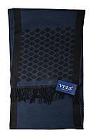 Шарф мужской шерстяной Vels 23 (190*32, синий узор)