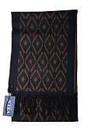 Шарф мужской шерстяной Vels 29 (190*32, темно синий с орнам.)
