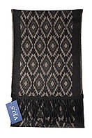 Шарф мужской шерстяной Vels 31 (190*32, темно-серый орнамент)
