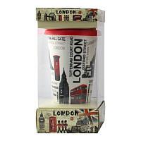 Кружка с силиконовой крышкой в подарочной упаковке London - 203604