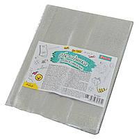 Обкладинка для зошитів PVC (34,5 см*21 см), 180 мкм, гліттер, фото 1