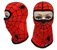 Детская термоактивная балаклава SportZone Spider Man Red. Детская термобалаклава, подшлемник, маска, фото 1