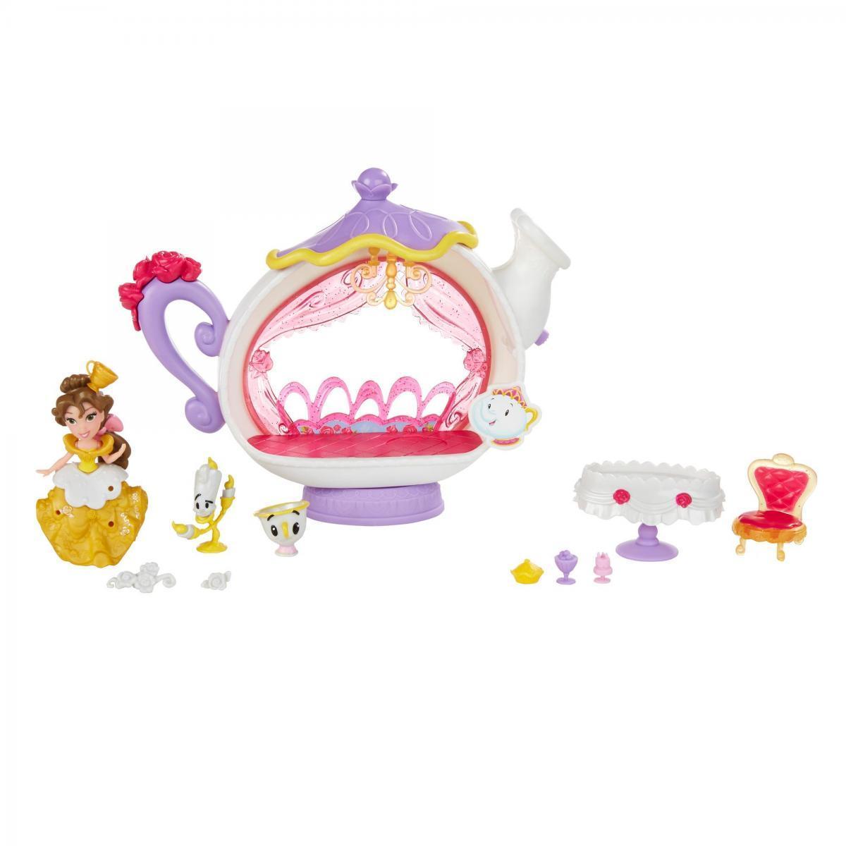Игровой набор  Hasbro Disney Princess 7.5 см-для маленьких кукол Принцесс Комната для чаепития Белль B5346