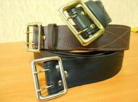 Ремни кожаные пряжка латунь, офицерские коричневые, код : 500.