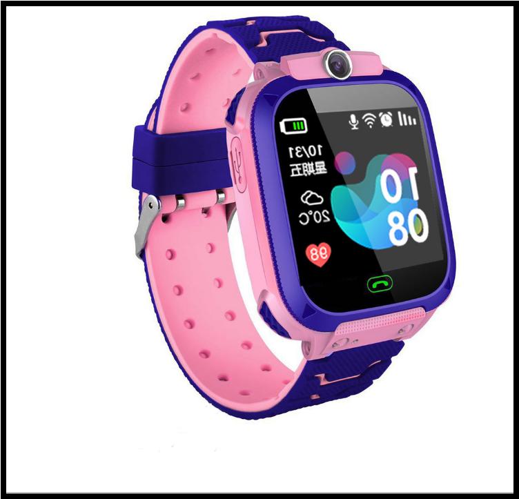 Дитячі смарт-годинник S12 з GPS рожеві IP68 Водонепроникні Смарт-годинник з sim-картою