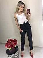 Классические женские брюки с идеальной высокой посадкой. Цвет: черный, красный, марсала. S, M, L