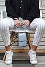Голуба СУМКА-КЛАТЧ + ГОДИННИК У ПОДАРУНОК ! Новинка. Гаманець. Портмоне 2020! Гаманець.Голуба сумка, фото 3