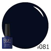 Гель-лак NUB Back To Black № 081 (черный), 8 мл