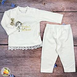 Детский велюровый костюмчик для девочки Размеры: 68,74,80 см  (9262-2)