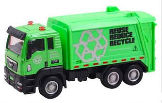 Cпецтехника Pullback City Truck XY 016 металлопластиковая инерционная зеленая R190518