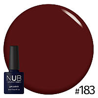 Гель-лак NUB Mahogany № 183 (вишневый ликер), 8 мл
