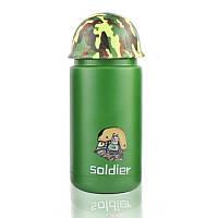 Термос в стиле милитари Soldier зеленый - 203698