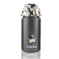 Термос в стиле милитари Soldier черный - 203700