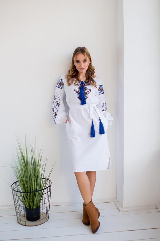 Украинское платье вышиванка с орнаментом Судьба