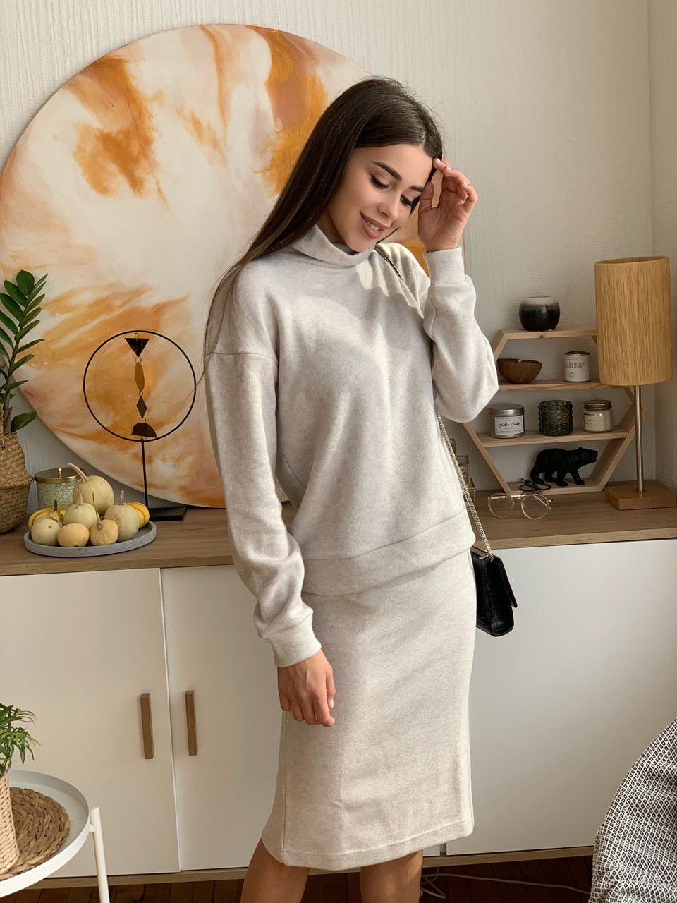 Костюм женский теплый с юбкой  К 00545.1 с 02