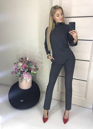 Женский костюм-двойка пиджак и брюки /серый, 42-46, ft-417/, фото 2