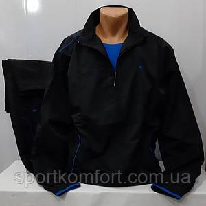 Чоловічий спортивний костюм з плащової тканини турецької фабрики PIYERA, чорний.