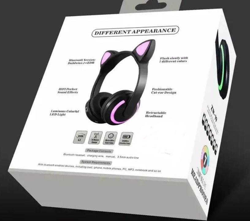 Bluetooth 4.0!!! Рожеві навушники з котячими вушками. КРАЩИЙ ПОДАРУНОК ДІВЧИНЦІ!