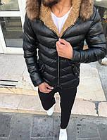 Мужская куртка черная WS9, фото 1