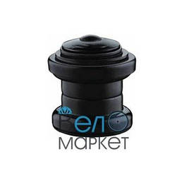 "Рульова KENLI 1.1/8"" безрезьбовая чорна, посадковий діаметр чашок 34 мм"