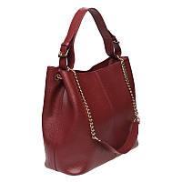 Женская сумка кожаная Ricco Grande 1L887-burgundy