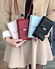 Сумка-клатч красня с карманом для телефона, фото 2