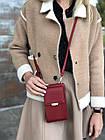 Сумка-клатч красня с карманом для телефона, фото 3