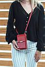 Сумка-клатч красня с карманом для телефона, фото 4