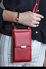 Сумка-клатч красня с карманом для телефона, фото 5