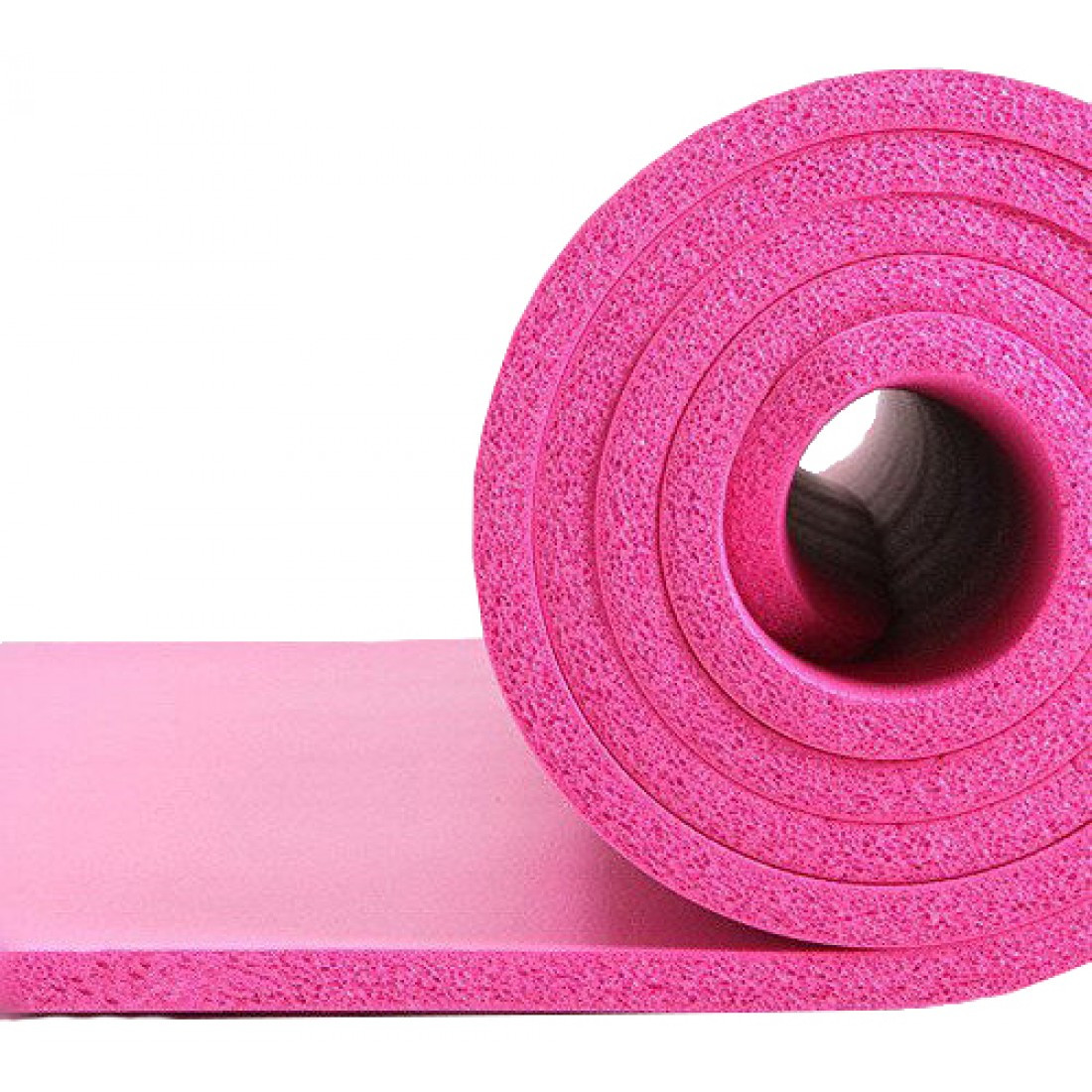 Фитнес-коврик для тренировок LiveUP NBR MAT 185х80х1.5см каучуковый розовый (LS3257-80p)