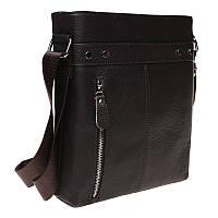 Мужская кожаная сумка Borsa Leather 1t15502m-brown, фото 1