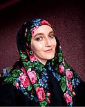 Варенька 1317-18, павлопосадский платок шерстяной с шерстяной бахромой, фото 3