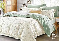 Комплект постельного белья Вилюта (Viluta) сатин люкс Tiare оливковый