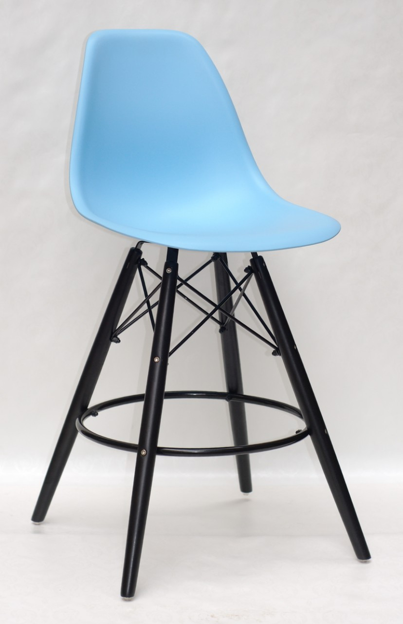 Барный стул Nik BK Eames, голубой 50